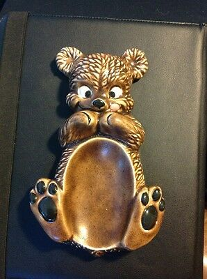 Ceramic Painted Brown Bear/Cub Spoon Rest