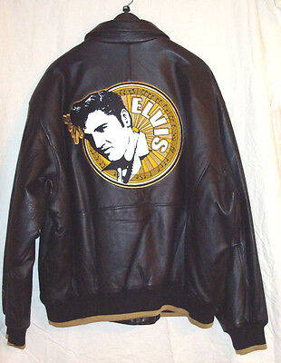 ELVIS PRESLEY COLLECTORS GOLD LABEL LEATHER JACKET by EXCELLED LEATHER- LICENSED