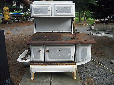 Antique Pittston Stove Company Cook Wood Stove Converted To An Outdoor BBQ Grill
