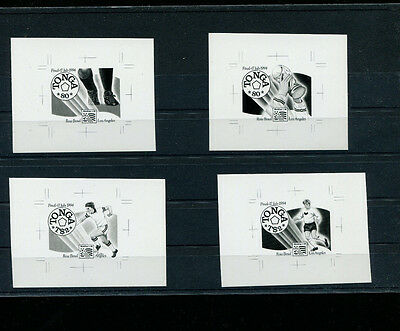 Tonga 1994 Soccer/Football World Cup Scott 864a-b+865a-b IMPERF BROMIDE PROOFS
