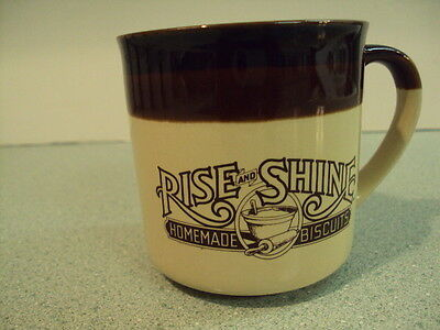 VTG 1984 HARDEE'S RISE AND SHINE HOMEMADE BISCUITS MUG ADVERTISING