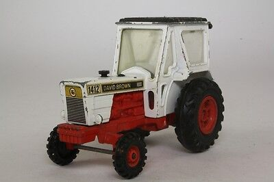 Corgi 55; David Brown 1412 Tractor; White, Red Chassis; Very Good Unboxed