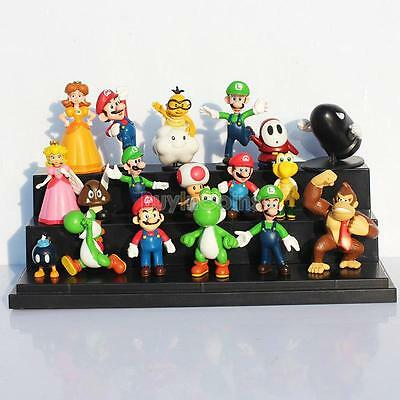 18 pcs Mini Super Mario Bros Lot Action Figure Doll Toy Gifts Cute Interesting