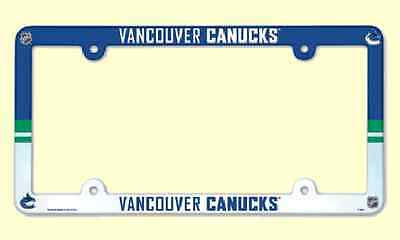 NHL® Vancouver Canucks Multicolor Plastic License Plate Holder SUPPORT YOUR TEAM