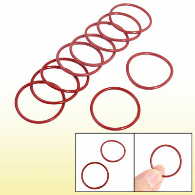 10 Pcs Red Rubber 31mm x 2mm Oil Seal O Rings Gaskets Washers