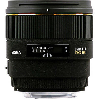 Sigma 85mm f/1.4 EX DG HSM Lens For Canon World Warranty Free Express