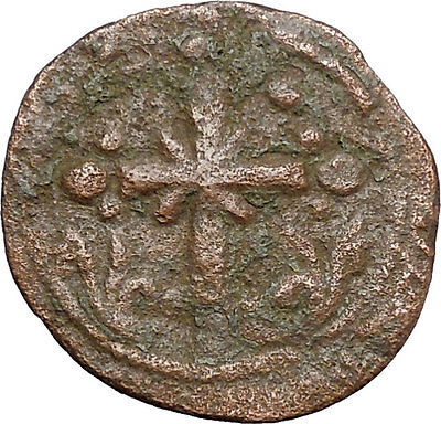 JESUS CHRIST Class I Anonymous Ancient 1078AD Byzantine Follis Coin CROSS i48194