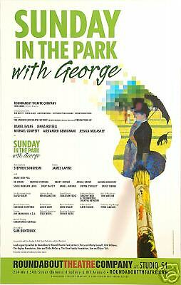 Sunday In Athe Park With George Broadway Window Card