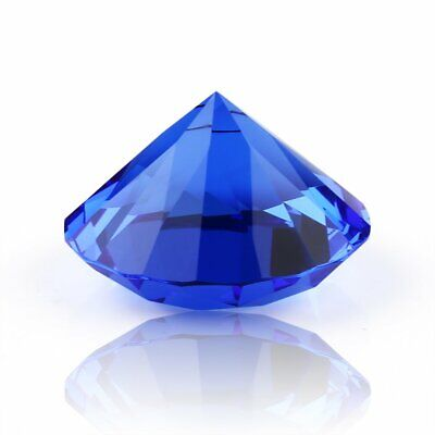 40mm Blue Crystal Diamond Paperweight Cut Glass Display Shape Decoration Gifts