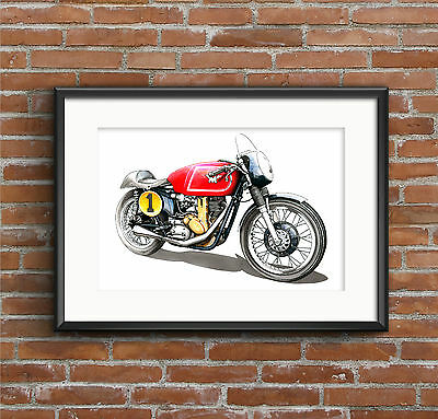 Matchless G50 Motorbike POSTER PRINT A1 size