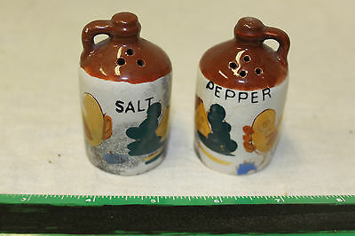 Vintage Hand Painted Jugs Salt & Pepper Shakers Set