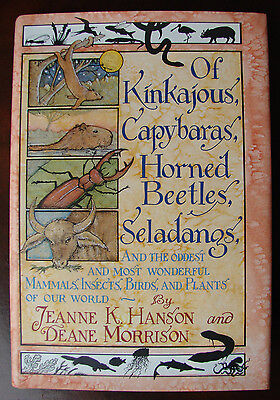 KINKAJOUS, CAPYBARAS, HORNED BEETLES. SELADANGS Hardcover Mammals Insects BOOK