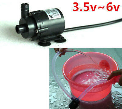 DC 3.5v ~6V 5v Micro mini Submersible Motor Water Pump F Solar Fountain Cooling