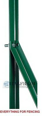 """Steel green diagonal posts for """"T"""" posts for wire mesh fencing 25x25mm"""