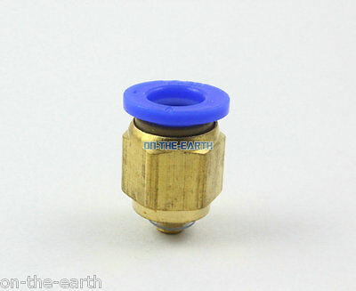 10PCS Tube OD 8mm x M5 Male Pneumatic Connector Push In To Connect Fitting