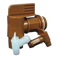 """3/4"""" White Drum Faucet with 7/8"""" OD Outlet"""