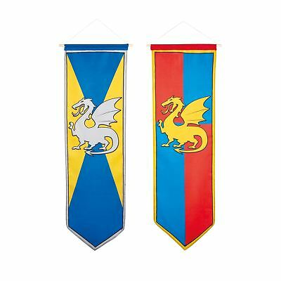 Medieval Knights and Dragons: Banner Medieval Dragon Party Decoration Hanging