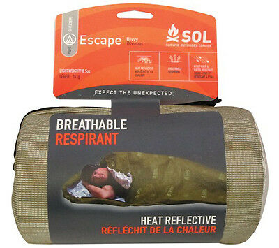 AMK SOL Escape Bivvy  - Olive Drab - Breathable Emergency Survival Shelter