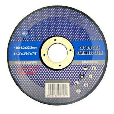 "10 X 4 1/2"" Thin Stainless Steel Metal Cutting Disc For Angle Grinder 4.5"" 115Mm"