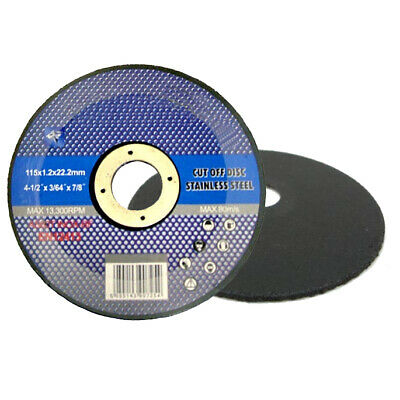 "25 x 4 1/2"" Thin Stainless Steel Metal Cutting Disc for Angle Grinder 4.5"" 115mm"