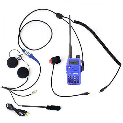Rugged RH5R 2-Way Motorcycle UHF & VHF 5watt Radios Communication Kit