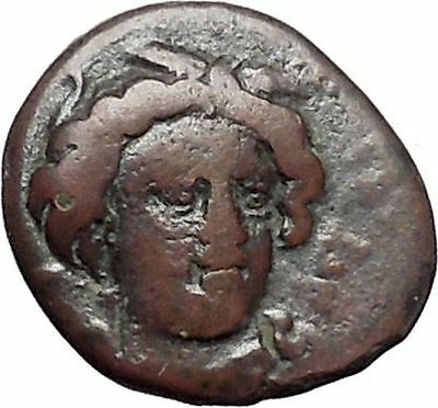 GELA in SICILY 350BC Demeter River-god Gelas Ancient Greek Coin RARE i47984