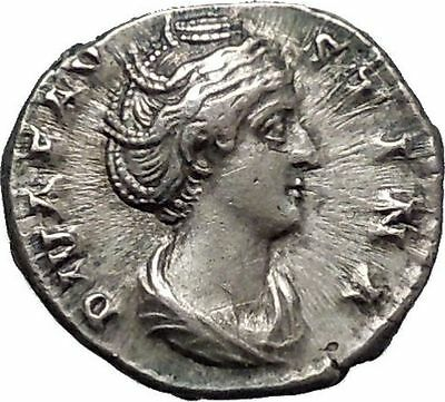 Faustina I 148AD Silver Rare Ancient Roman Coin Posthumous Issue Ceres i47781