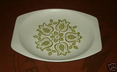 J & G Meakin Maidstone serving platter tulips green