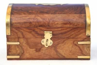 Fantastic wooden treasure chest trinket box