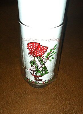 Holly Hobbie Glass Coca Cola Limited Edition Christmas Is A Gift Of Joy Cup