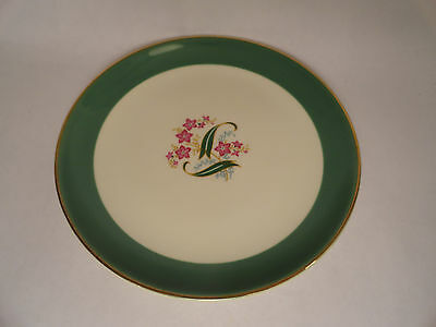 """Taylor Smith Taylor China Nosegay Green BREAD AND BUTTER DISH SIDE DISH 6 3/8"""""""