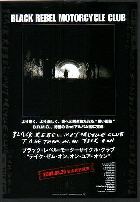2003 Black Rebel Motorcycle Club JAPAN album promo ad / mini poster advert b09r