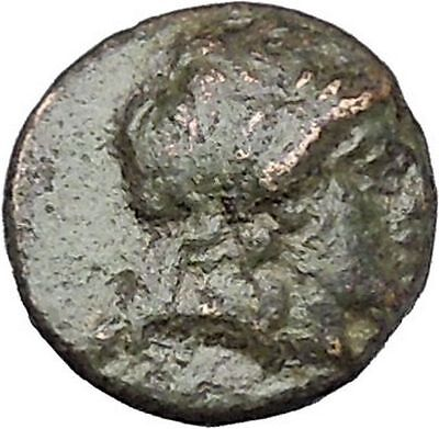 ANTIOCHOS II Theos 261BC Apollo Kithara Lyre Authentic Ancient Greek Coin i47152