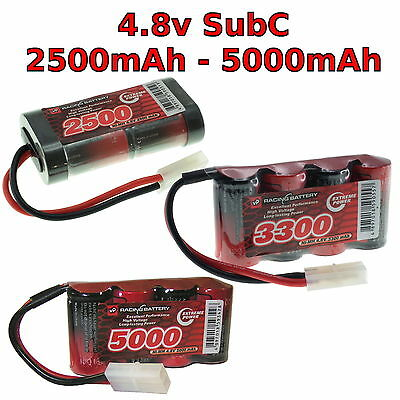 4.8V 2500-5000mAh SubC SC Premium Racing RC NiMh battery pack + custom connector