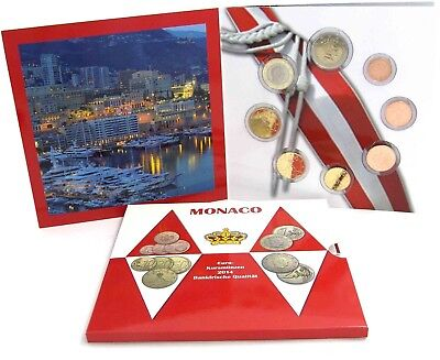 Monaco 3,88 Euro 2014 bfr. KMS Sonderedition 1 Cent bis 2 Euro im Folder