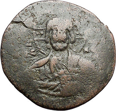 JESUS CHRIST Class A2 Anonymous Ancient 1025AD Byzantine Follis Coin i48280