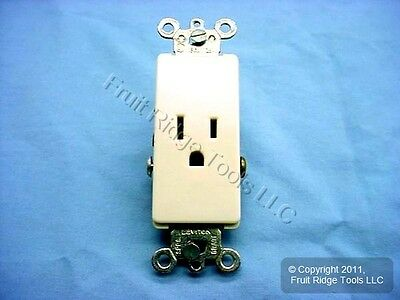 10 Leviton Ivory Decora COMMERCIAL Receptacle Outlets 15A 16241-I