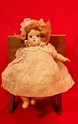 "Beautiful ANTIQUE 1920s HORSMAN COMPOSITION DOLL 15 1/2""  Sleep Eyes"