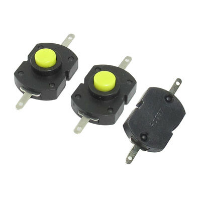 3 Pcs Horizontal On/Off Position Latching Torch Push Button Switch