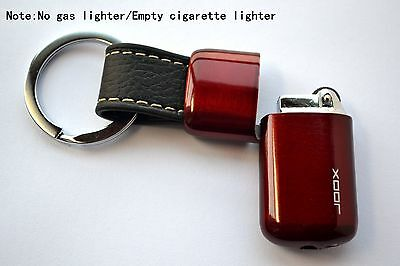 Empty Novelty Portable Refillable Cigarette Butane Gas Lighter With Key Ring Red