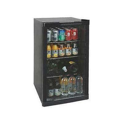Under Counter Drinks Display Chiller Cooler Fridge Shop Glass Door 88L M195418