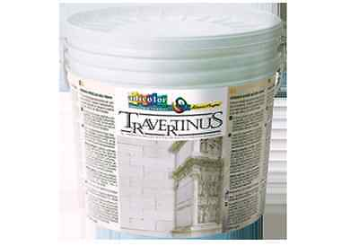 Pittura Decorativa Marmo Travertino 15 Lt. Naturale In Pasta