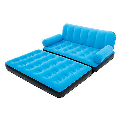 Bestway Multi Max Inflatable Air Couch or Double Bed with AC Air Pump, Blue