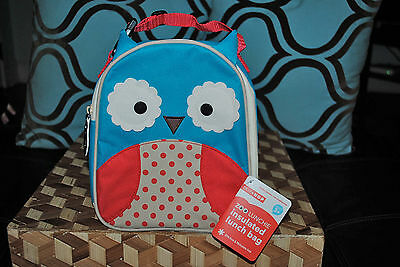 SKIP HOP ZOO LUNCHIE BLUE OWL INSULATED LUNCH BAG BPA Phthalate Free NEW RARE