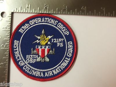 USAF 113th OPERATIONS GROUP DISTRICT OF COLUMBIA ANG PATCH (AFB-1)