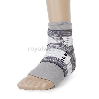 Footful Ankle Foot Elastic Compression Wrap Support Sleeve + Bandage Brace Guard