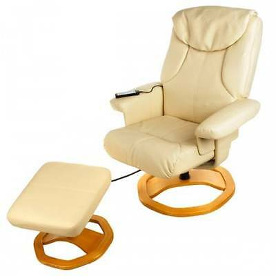 New Luxury PU Leather Relaxwell Palermo Recliner Massage Chair & Foot Stool