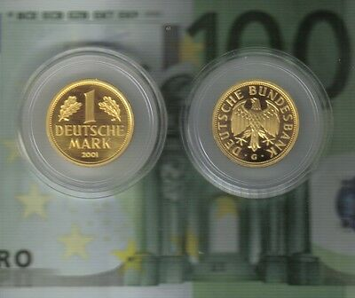 1 DM Gold--Mark--2001--G--Deutsche Bundesbank--12,0 Gramm--