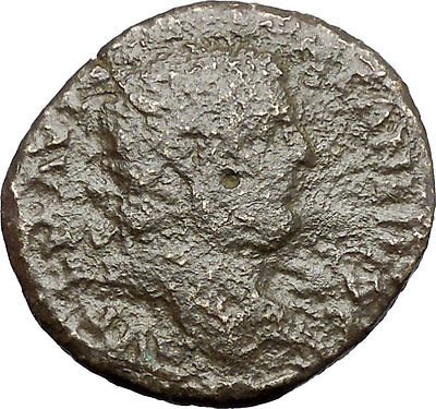 CARACALLA Serdica in Thrace Ancient Roman Coin Tyche Fortuna Luck Cult  i48221