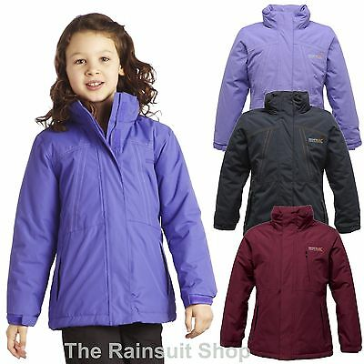 Regatta Beatrix Girls Warm Padded Insulated Waterproof Rain Coat Jacket  5-12Yrs